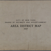 City of New York. Board of Estimate and Apportionment. Area District Map. 1927.