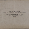 City of New York. Board of Estimate and Apportionment. Use District Map. 1927.