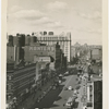 View of West 125th Street, looking west towards Seventh Avenue, with the Hotel Theresa at center behind Kanter's Department Store, ca. 1940s