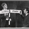 Peter Cook and Dudley Moore in the stage revue Beyond the Fringe
