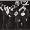 Alan Bennett, Jonathan Miller, Dudley Moore and Peter Cook in the stage production Beyond the Fringe
