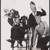 Robert Cessna, Joel Fabiani, James Valentine and Don Cullen in the stage production Beyond the Fringe '65.