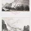 Tombes pyramidales (Petra);  Vue du théâtre prise du sud-est (Petra).