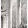 """Vue prise sous le péristyle du Khasné [al-Khazneh = """"Treasury""""](Petra)."""