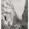 Tombeaux avec une inscription grecque (Petra).