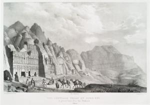 Vue générale prise du nord-est (Petra).
