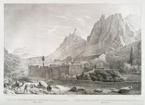 Vue du couvent de Sainte-Catherine, prise du nord (Mont Sinaï).