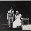 Burt Brinkerhoff and Carol Lynley in the stage production Blue Denim