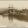 Admiral Jellicoe landing at Suva, Fiji.