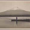 Mount Fuji and lake.