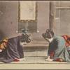 Japanese women in kneeling bow.