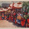 Tayū and shinzo in oiran parade.
