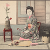 Portrait of Japanese young woman, possibly maiko.