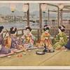 Geishas and maiko practicing sake service.