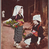 Oharame girls with flowers, herbs and firewood for sale