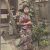 Maiko tending garden.