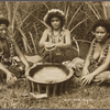 Aumaga seated around tanoa bowl, 'Ava (or kava) ceremony, Samoa.