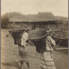 Igorot (?) women with wicker harvest baskets on their backs.