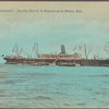 """Pacific Mail S.S. Manchuria in Manila Bay. """"In the Philippines""""."""