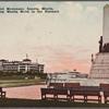 Rizal Monument, Luneta, Manila, showing Manila Hotel in the distance.