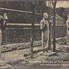 Restored statues at Ruduweli [Ruwanweli?] Dagoba, Anuradhapura, Ceylon.