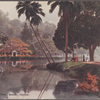 A lakeside view, Kandy, Ceylon.