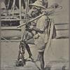 Fisherman with full equipment, Ceylon.