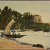 Ceylon -- Colombo.  Mount Lavinia Hotel and sea shore.