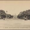 Saigon.  Perspective de l'Hôtel de Ville, vue du Boulevard Charner.