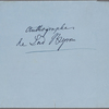 Autograph note signed to Teresa Gioccioli, [circa February-mid-July 1820]