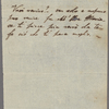 Autograph note unsigned to Teresa Guiccioli, [circa February-mid-July 1820]