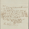 Autograph letter signed to Horace Hall, 19 March 1820
