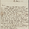 Autograph letter signed to Horace Hall, 24 March 1820
