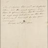 Autograph note, third person, to Edmund English, 21 April 1820