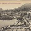 Tonkin.  Tuyen-Quang.  Radeaux de bois descendant la rivière.