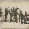 Group portrait of vaudeville musicians, with, possibly, Billie Purl on piano.]