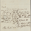 Autograph letter signed to Horace Hall, 26 May 1820