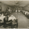Interior view of The Nest Club, in Harlem, showing the dining area, the dance floor and the bandstand, ca. 1920s.]