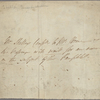 Autograph note, third person, to William Hone, 20 February 1817