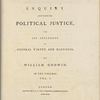 Holograph annotations in a copy of Godwin's Political Justice, Vol. I