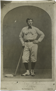 C.A. McVey, catcher, 1874.