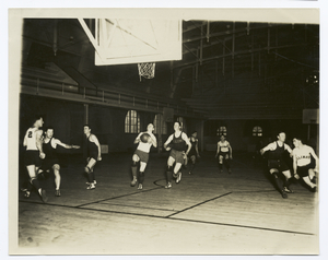 Second phase of coach Craig Ruby's famous out of bounds scoring play used successfully by his University of Illinois basketball team.