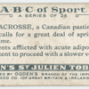 L is LACROSSE, a Canadian pastime ...