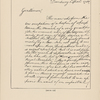 """[Catalog entry no. 172:] Seventeen page account of the discord among the officers of the Army. Willett (Marinus--Lieutenant-Colonel during the Revolution). Autograph letter signed,--""""Marinus Willett,"""" 17pp., 8vo, Danbury, April 1, 1781. To the delegates to Congress from the State of New York..."""