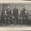The committee of managers of the House of Representatives. James F. Wilson. George S. Boutwell. John A. Logan. Benjamin F. Butler. Thaddeus Steven. Thomas Williams. John A. Bingham.