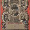 The money makers of America. For present generation see inside. Presented by your druggist. [Center and then clockwise from upper right:] Peter Cooper. A.T. Stewart. Geo Peabody. John Jacob Astor. Com. Vanderbilt.