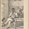 Toussaint L'Ouverture reading the Abbé Raynal's work.