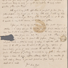 Autograph letter signed to Marianne Hunt, 21 December 1820