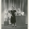 """Ruth Rubinstein in """"Vassar girl finds a job"""" sketch from """"Pins and Needles."""""""
