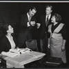 Monica Boyar, Don Ameche and unidentifieds rehearsing the stage production 13 Daughters